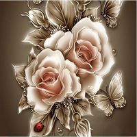 Rhinestone painting crystal Home Decor DIY Diamond painting Rose &butterfly 3D cross stitch pattern diamond embroidery