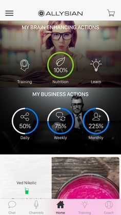 Allysian New app Business Goals, Workouts, Routine, Track, Platform, Nutrition, Training, The Incredibles, Activities