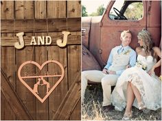 I adore this rustic wedding, how beautiful their pictures are and her dress is stunning!!