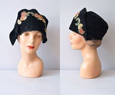 r e s e r v e dvintage 1920s hat / 20s cloche hat / by DearGolden, $120.00