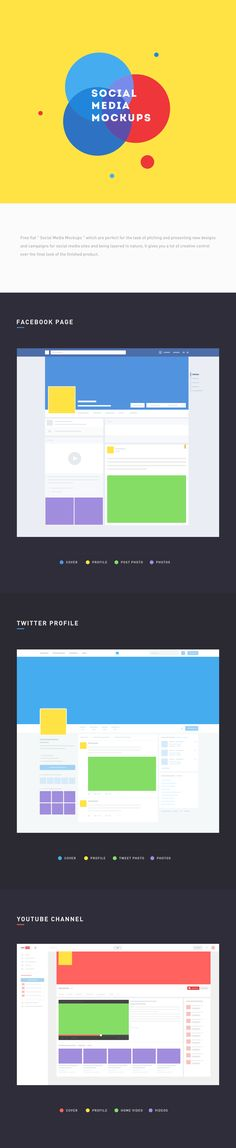 """free flat """" social media mockups """" which are perfect for the task of pitching and presenting new designs and campaigns for social media sites and being layered in nature, it gives you a lot of creative control over the final look of the finished product. …"""