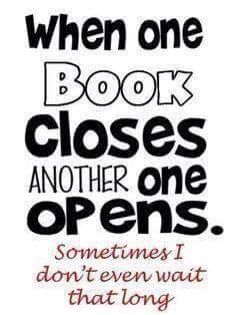 When one book closes another one opens....