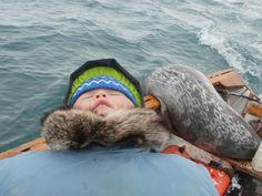 Long day sealing. Photo by Joshua Keenainak :)