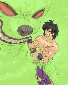 Broly y Bah Asian Dragon Tattoo, Dragon Tattoo Back, Akira, Dragon Ball Z, Dbz, Movie Db, Broly Movie, Son Goku, Character Design