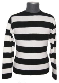 A black and white striped jumper. Good. Very good. Actually.... fantastic!
