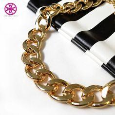 One word – #Fierce. #jewelrygram #goldchain #bling #allgold #blackandwhite #accessories #fashion #trendy #AyanaDesigns