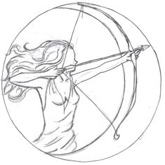 "Artemis and her silver bow and arrow. Inspiration for ""The Immortal Game"" by Joannah Miley"