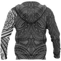 Polynesian Hoodie - Polynesian Flowers Tattoo Style Hoodie A7 1ST – Polynesian Print