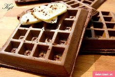 Czekoladowe gofry - Swiatciast.pl Waffles, Lunch Box, Breakfast, Pastries, Food, Morning Coffee, Tarts, Essen, Waffle