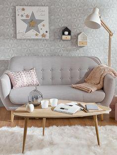 Hogar, dulce hogar: decora tu casa en tonos pastel #salón #sofá