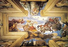 Giovanni Francesco Barbieri called 'Il Guercino': 'L'Aurora' (the Dawn), 1621, Casino dell'Aurora, or Casino Ludovisi, Rome, Italy.