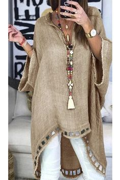 Sewing clothes women boho 39 ideas for 2019 Sewing Clothes Women, Clothes For Women, Half Sleeves, Types Of Sleeves, Outfit Chic, Moda Jeans, Look Fashion, Womens Fashion, Boho Outfits