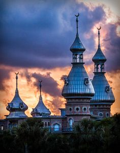 University of Tampa Minarets--I terribly miss UT and Tampa Bay :( Florida Girl, Tampa Florida, Florida Travel, Places In Florida, Florida Beaches, Tampa Bay Hotels, Tampa St Petersburg, University Of Tampa, Tampa Bay Area