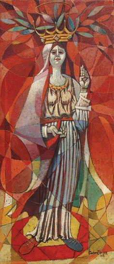 """Carmelo Gonzalez """"Figura"""" 1958- St. Barbara- what an amazing Piece!"""