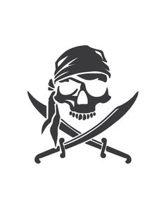 Skull and Crossbones Vinyl Decal Pirate Jolly Roger image 2 Pirate Skull Tattoos, Pirate Ship Tattoos, Pirate Skeleton, Pirate Art, Jeep Wrangler Accessories, Ship Drawing, Military Tattoos, Shoulder Armor, Jolly Roger