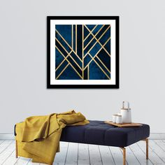 """""""Art Deco Midnight"""", Numbered Edition Fine Art Print by Elisabeth Fredriksson - From 20,00€ - Curioos"""