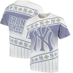 New York Yankees Mitchell & Ness Wild Pitch T-Shirt - White/Navy