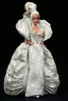Bob+Mackie+Barbie+Dolls | Bob Mackie Platinum Barbie Doll