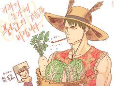 FarmerBoy!Ushijima & Granny!Tendou Haikyuu Ushijima, Ushijima Wakatoshi, Kenma, Oikawa, Haikyuu Meme, Haikyuu Yaoi, Yamaguchi Tadashi, Kuroko's Basketball, Fanart
