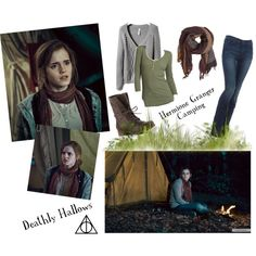 """""""Deathly Hallows Hermione Granger Camping outfit #2"""" by the-next-emma-watson on Polyvore"""