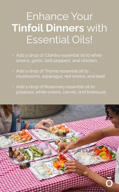 Going camping? Bring these essential oils to add extra flavor to your tinfoil dinner! It's an easy way to bring extra ingredients without adding too much weight to your backpack.