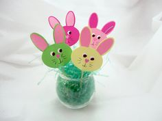 Easter Bunny Cupcake Toppers Set of 12 by PiecesOfMePaperCraft, $12.00