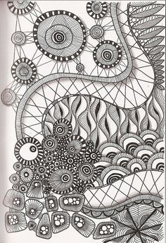Tangled art Cresent moon tangelations love the cresent moon wheel! Doodles Zentangles, Tangle Doodle, Zentangle Drawings, Zen Doodle, Doodle Drawings, Doodle Art, Zantangle Art, Zen Art, Doodle Patterns