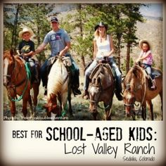 Best for School-Aged Kids: Lost Valley Ranch. Best Family Dude Ranch Vacations on @trekaroo @LostValleyRanch