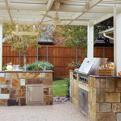 Outdoor Kitchens - I like the concept of separate pieces