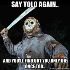 My thoughts exactly! LMFAO. Friday The 13th Memes, Happy Friday The 13th, Funny Friday, You Funny, Funny Cute, Hilarious, Funny Things, Funny Stuff, Funny