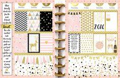 New #PomPlanner Pink & Gold Year Planner Kit Weekly Spread #plannerlove #planneraddict #beforethepen