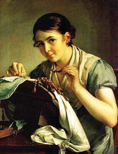 Василий Андреевич Тропинин. «Кружевница». 1823