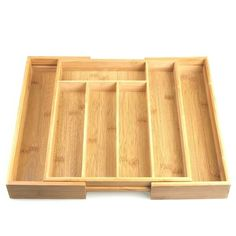 Shop Desconocido cutlery box made of bamboo, extendable, cm x 28 cm. Free delivery on eligible orders of or more. Bar, Decoration, Cutlery, Kitchen Design, Amazon Fr, Kitchen Organization, Home Kitchens, Stretch Fabric, Drawer