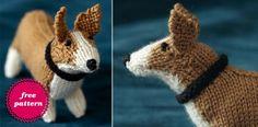 knit corgi   Knit your Dog :) FREE Corgi Pattern   Knitting Crafts