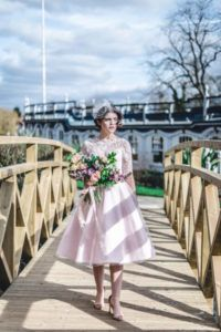 fifties wedding dres