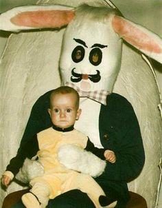 Creepy kid, creepy bunny