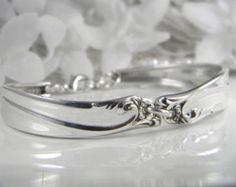 Spoon Bracelet Spoon Jewelry Silverware Jewelry by TheCottagePath