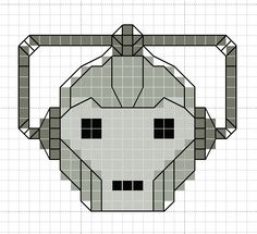 hancock's house of happy: Free Cross Stitch Chart: Dr. Who Cyberman