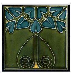 回 Tile o Phile 回  Art Nouveau Tile.