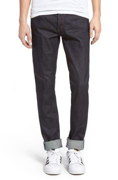 New The Unbranded Brand UB401 Selvedge Skinny Fit Jeans ,BLUE fashion online. [$82]newtopfashion top<<