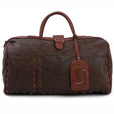 Mens Duffle Bag Gym Bag for Women Faux Leather Travel Bag 313 (3)
