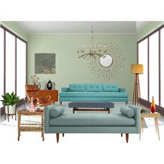 """""""Summer Reruns Home Scavenger Hunt: Mid-Century Modern Edition"""" by lamani on Polyvore"""