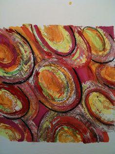 Embellishments on Gelli Plate Prints