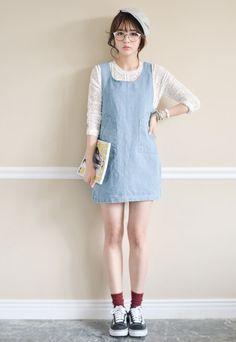 Korean Plus Size Loose Jeans Female Summer Strap Denim Dress Light Blue RF14062502http://www.clothing-dropship.com/korean-plus-size-loose-jeans-female-summer-strap-denim-dress-light-blue-g2315059.html