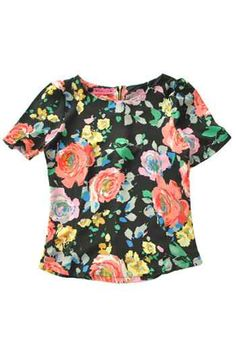 Floral Silk Top. Pinkaholic Fashion Shoppe