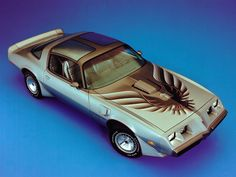 """Pontiac Firebird Trans Am 6.6 L78 """"10th Anniversary""""////////My first car!!! except I had bird removed!!!(sooo tacky) and it was painted white and blue with blue interrior!! I must post my pictures of it."""