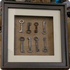 old keys decor - idea for my old skeleton keys