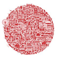 London Calling is a graphic print featuring London landmarks Illustration Arte, London Illustration, Illustrations, London Calling, London Icons, London Map, London City, London Logo, London Poster
