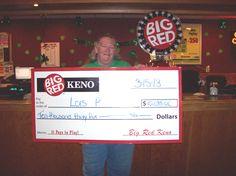 Lois Won $10,035 playing Big Red Keno in Omaha!