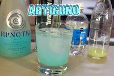 Articuno (Pokemon cocktail) Ingredients:2 oz Hpnotiq.75 oz Gin.25 oz Lime JuiceClub soda to fill This episode on my Geek & Sundry vlog, ...